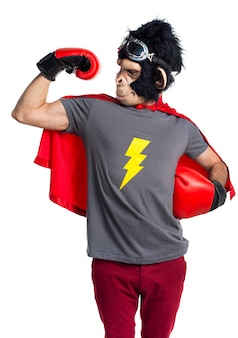 Starker superheld-affenmann