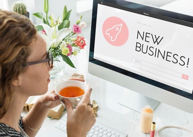 Startkonzept für start-up-business-raumschiff-ziele