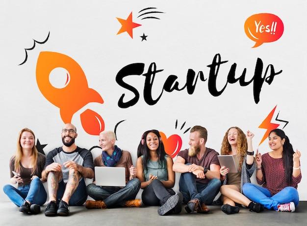 Startup-geschäftsfortschrittsstrategie unternehmen