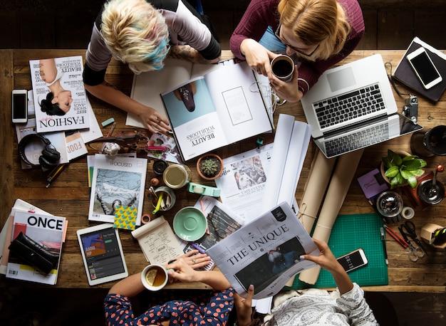Startup-geschäftstreffen