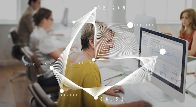 Statistikanalysediagramm datenstrategie-wachstumskonzept