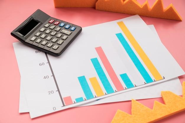 Statistikgrafik mit taschenrechner