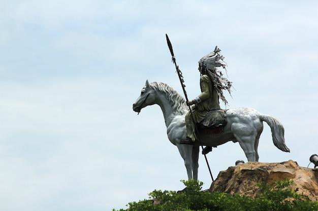 Statue eines indischen stammes