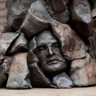 Statue in boston, massachusetts, usa