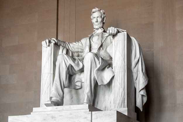 Statue von abraham lincoln, lincoln memorial, washington dc