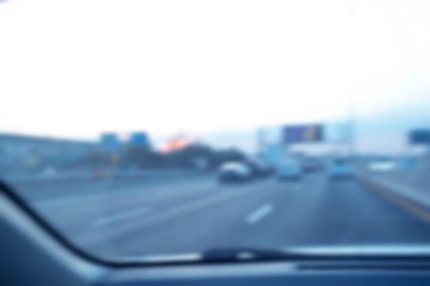 Staus in der stadt - rush hour softfokus und über unscharf and