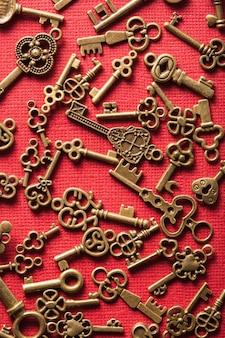 Steampunk alter vintage metallschlüssel hintergrund