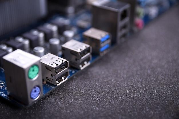 Steckplätze für den anschluss auf dem motherboard