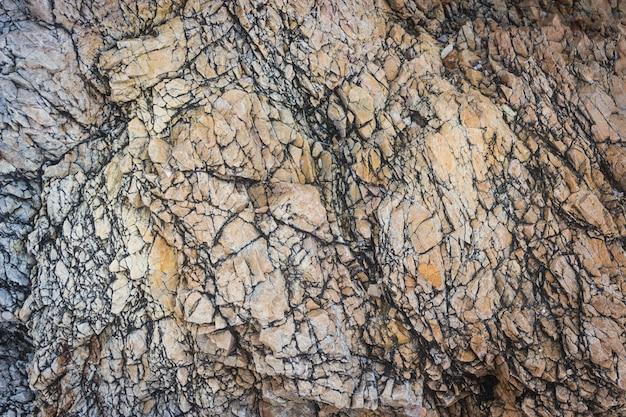 Stein- oder felsenbeschaffenheit und -hintergrund.