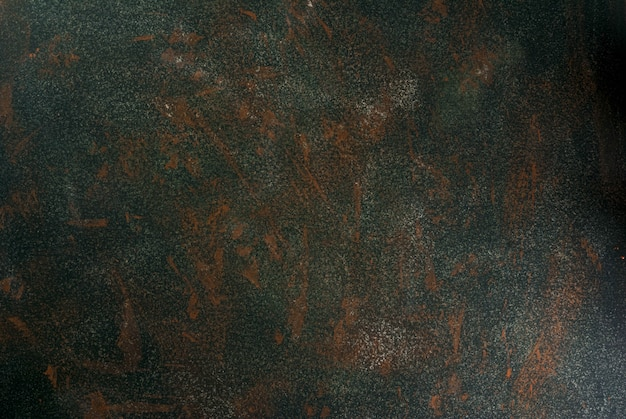 Stein- oder konkrete grüne alte rostige, wand-, tischplatteansicht