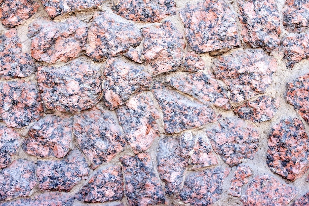Steinbeschaffenheit von ungleichen granitteilchen