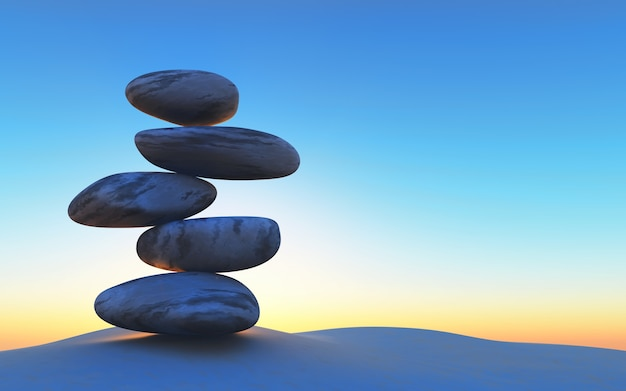 Steine in perfekter balance