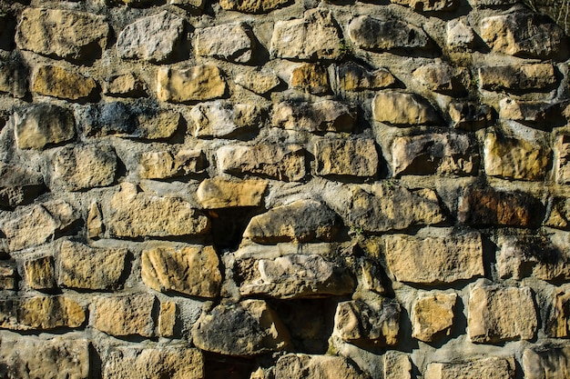 Steinmauer oberfläche im freien