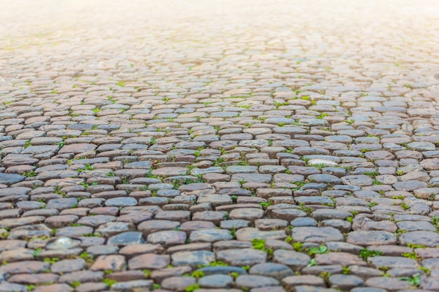 Steinpflasterungsbeschaffenheit in der perspektive