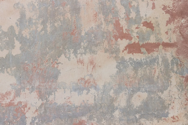 Steinwand mit gebrochener, schalengips- und -farbenbeschaffenheit, hintergrund