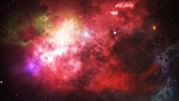 Sterne am nachthimmel, nebel und galaxie