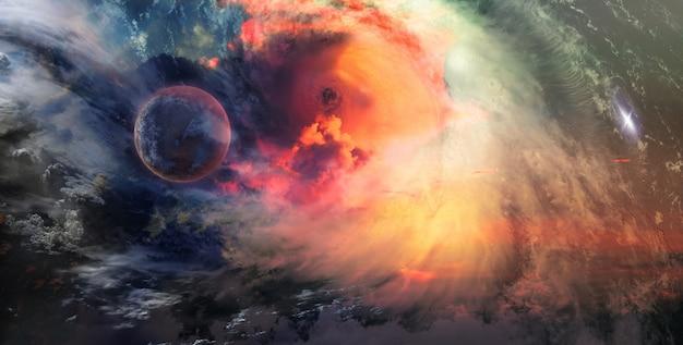 Sterne und galaxien im weltraum