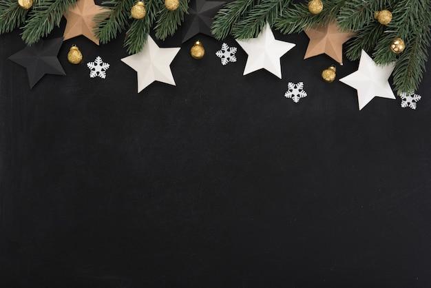 Sterne und weihnachtsschmuck, bordürenmuster