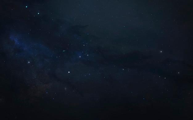 Sternenfeld im weltraum. science-fiction-textur und tapete. elemente dieses bildes von der nasa geliefert