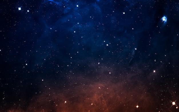 Sternenfeld im weltraum viele lichtjahre weit von der erde entfernt. elemente dieses bildes von der nasa geliefert