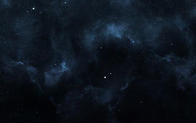 Sternenfeld im weltraum viele lichtjahre weit von der erde entfernt.