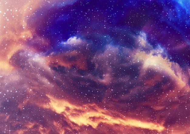 Sternenhimmel nebelwolken