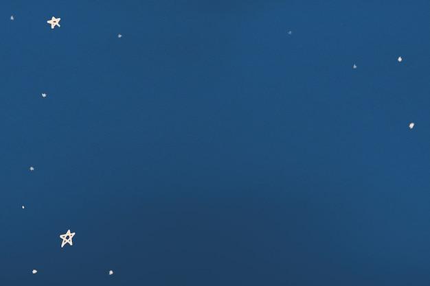 Sternenklarer nachtblauer hintergrund in aquarellillustration