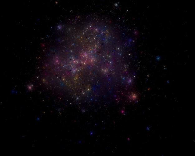 Sternfeld hintergrund. sternenhimmel im weltall
