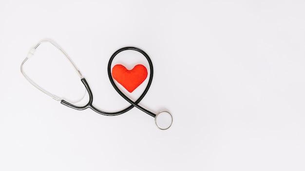 Stethoskop und herz