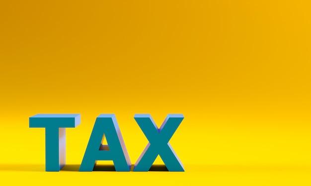 Steuern text auf gelb.