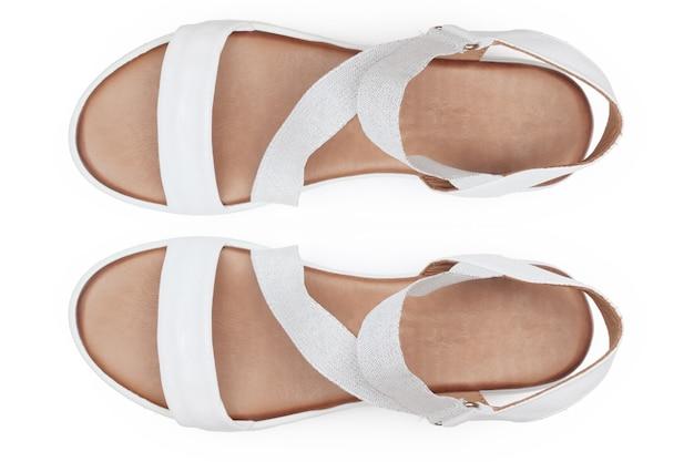 Stiefel isoliert auf weißem hintergrund draufsicht