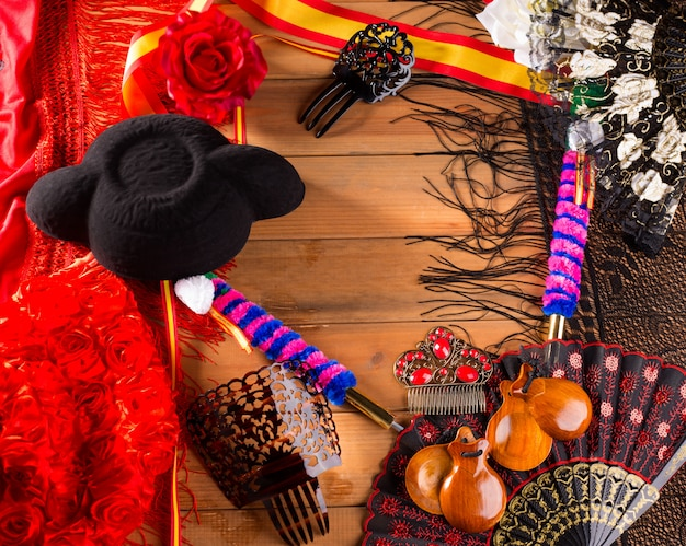 Stierkämpfer und flamenco typisch aus dem spanischen espana torero