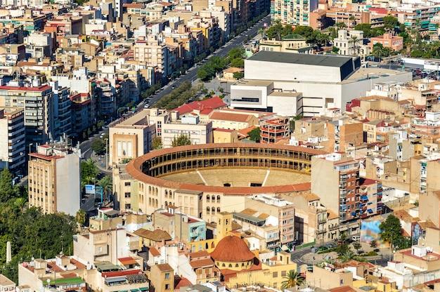 Stierkampfarena plaza de toros in alicante spanien