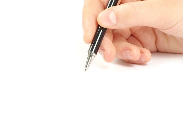 Stift in der hand