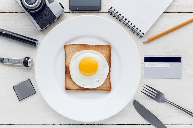 Stilles frühstück perfektionist hipster