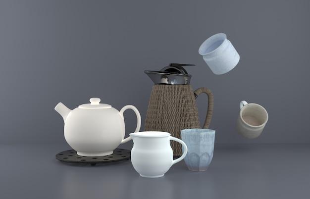 Stillleben der teekanne