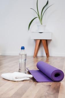 Stillleben des yogaraumes