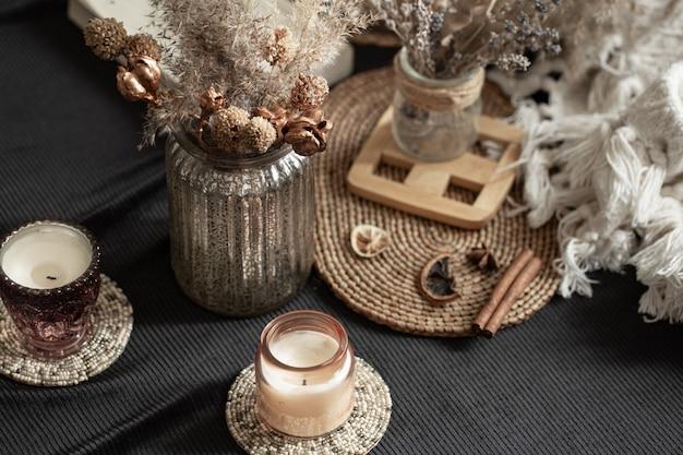 Stillleben gemütliches haus mit dekorativen details im innenraum