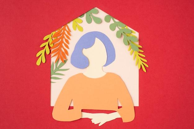 Stillleben-komposition im stil der isolierung im papierstil