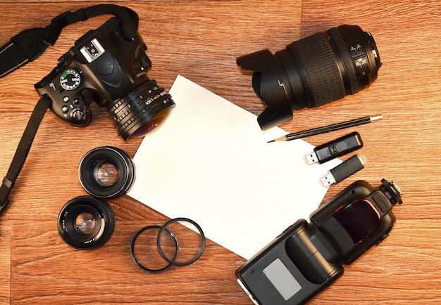 Stillleben mit digitalkamera-kit