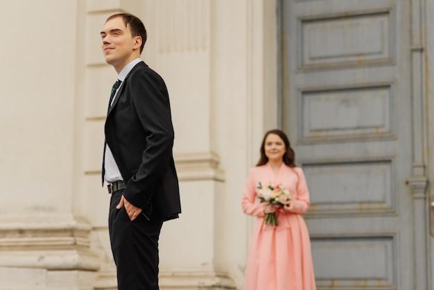 Stilvoll nur verheiratet. brautpaar.