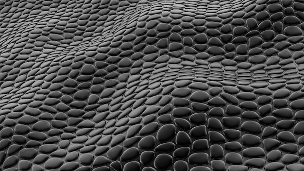 Stilvoller schwarzer hintergrund mit lederstruktur. 3d-illustration, 3d-rendering.