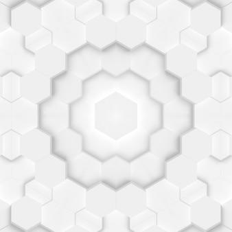 Stilvoller weißer hintergrund mit geometrischen elementen hexagon dreieck abstrakte formen. muster für website-design, layout, fertiges mockup