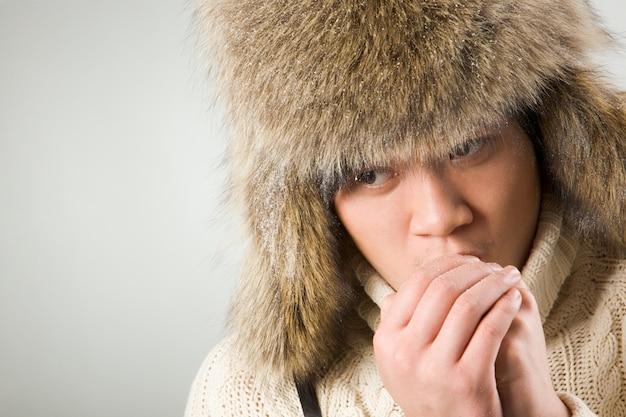 Stilvoller winter kalter finger wissen