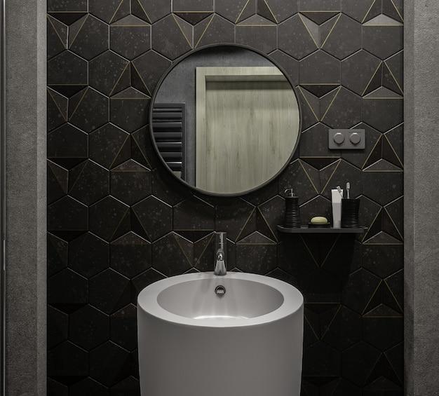 Stilvolles 3d-architekturdesign