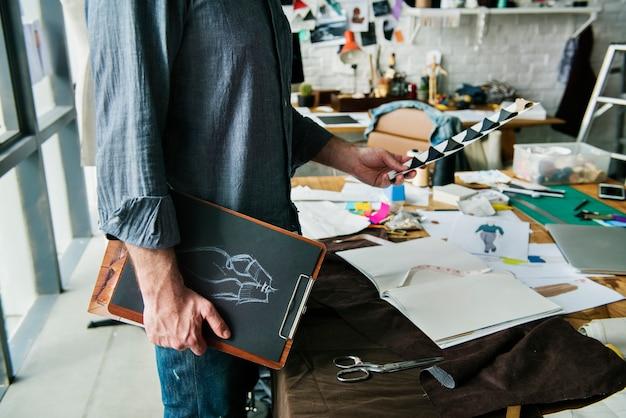 Stilvolles showroom-konzept der modedesignerin
