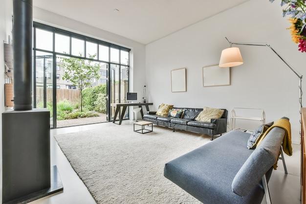 Stilvolles wohnzimmer Premium Fotos