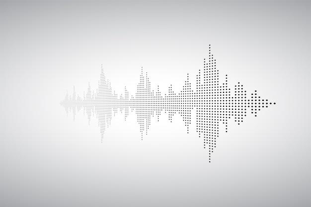 Stimme sound musik form. audiowelle von kleinen dost. wellen des equalizers. eq-abbildung.