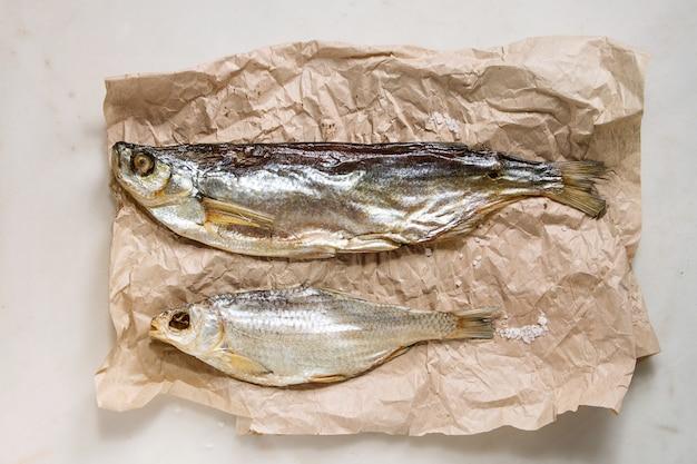 Stockfisch aus getrocknetem fisch
