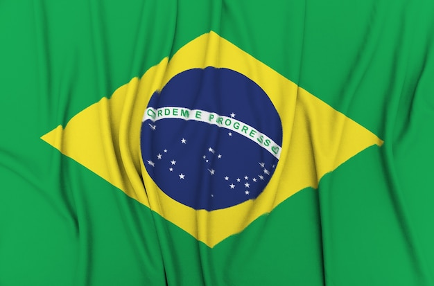Stoff flagge von brasilien